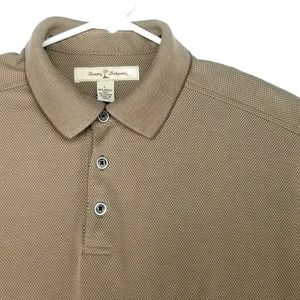 Tommy Bahama Mens Large Brown Gold Polo Shirt